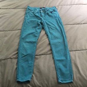 Turquoise jeans!